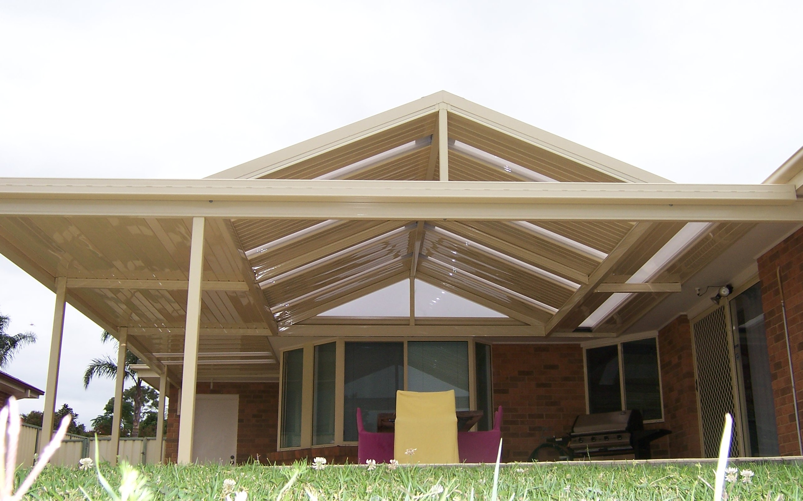 Gable Awning With Acrylic Infills And Lightstrips Approx 50sqm